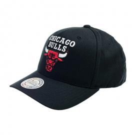 Gorra Mitchell&Ness Team Logo Bulls 6 paneles negro