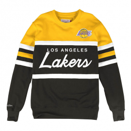 Sudadera Mitchell&Ness NBA Lakers Coach amarillo hombre