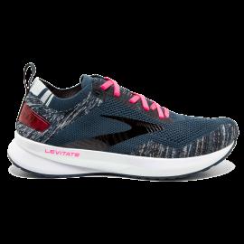 Zapatillas running Brooks Levitate 4 azul/negro/rosa mujer