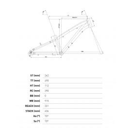 "Bicicleta Wrc Invader X 20"" Naranja"