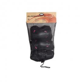 Protecciones Rollerblade Bladegear W 3pk negro/rosa