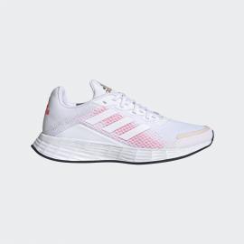Zapatillas adidas Duramo SL blanco/rosa mujer