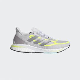 Zapatillas running adidas Supernova+ gris/amarillo mujer