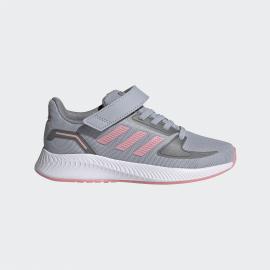 Zapatillas adidas RunFalcon 2.0 C gris/rosa niña
