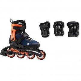 Patines extensibles Rollerblade Micro Combo azul- naranja