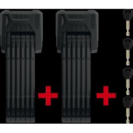Antirrobo plegable Abus Bordo 6500/85 BK Sh XPlus TwinSet