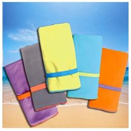toalla fitness gimnasio y toalla microfibra playa 40x80cm verde - borde azul oscuro compacta y de secado r/ápido Toalla microfibra toalla microfibra grande en todos los tama/ños // 18 colores