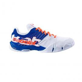 Zapatillas pádel Babolat Pulsa blanco/azul hombre