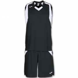 Conjunto baloncesto Joma Set Final negro blanco