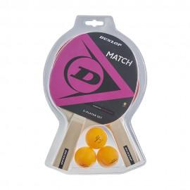 Set ping pong Dunlop Match 2 palas + 3 pelotas