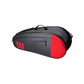 Raquetero Wilson Team 6pk rojo/gris
