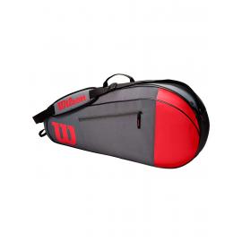 Raquetero Wilson Team 3pk rojo/gris