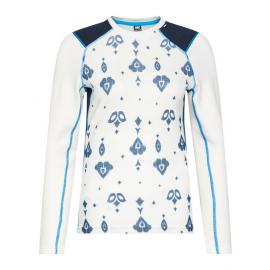 Camiseta termica Lifa Merino Helly Hansen blanco mujer