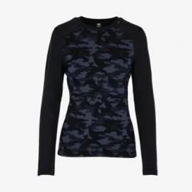 Camiseta termica Lifa Merino Helly Hansen negro mujer