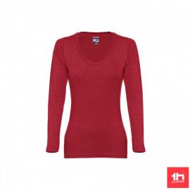 Camiseta manga larga TH Clothes Bucharest rojo mujer