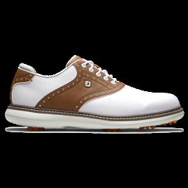 Zapato golf Footjoy Traditions Blanco/ marron hombre