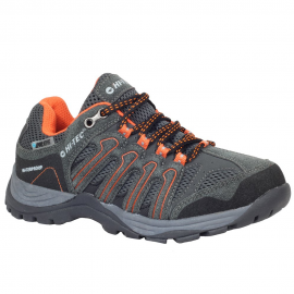 Zapatillas trekking Hi-Tec Gregal Low Wp gris naranja junior