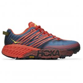 Zapatillas trail Hoka Speedgoat 4 rojo/azul hombre