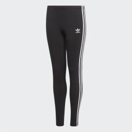 Leggings adidas 3 Stripes negro blanco niña