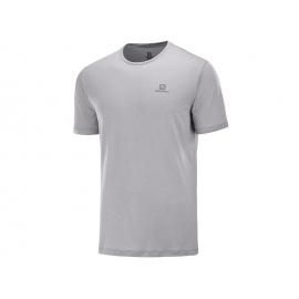 Camiseta trailrunning Salomon Agile Training Tee gris hombre