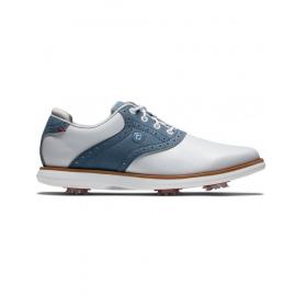 zapato golf Footjoy Traditions blanco/azul mujer