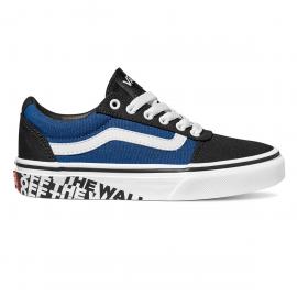 Zapatillas Vans YT Ward negro blanco azul niño