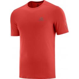 Camiseta trail running Salomon Xa Trail Tee rojo hombre