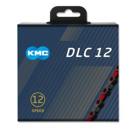 Cadena Kmc DLC12 negra-roja 126 eslabones 12 velecidades