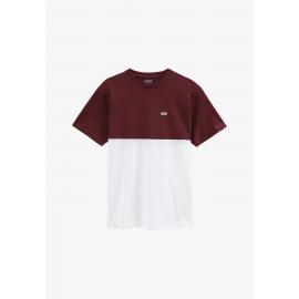 Camiseta Vans Colorblock blanco burdeos hombre