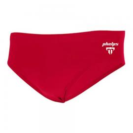 Bañador Michael Phelps Brief 8cm Solid rojo hombre
