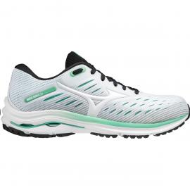 Zapatillas running Mizuno Wave Rider 24 blanco/verde mujer