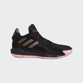 Zapatillas baloncesto adidas Dame 6 negro/oro hombre