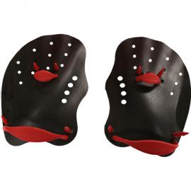 Palas natación Softee Speed negro/rojo