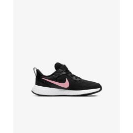Zapatillas Nike Revolution 5 (PSV) negro/rosa niña