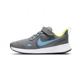 Zapatillas Nike Revolution 5 (PSV) gris/azul niño