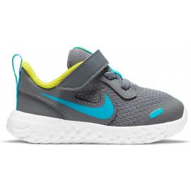 Zapatillas Nike Revolution 5 (TDV) gris/azul bebé