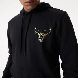 Sudadera New Era Metalic Hoody Bulls negro hombre