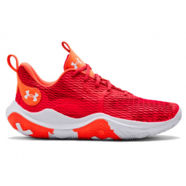 Zapatillas Under Armour Spawn 3 rojo blanco unisex