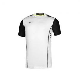 Camiseta tenis Mizuno Hex Rect blanco negro hombre