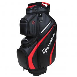 Bolsa carro TaylorMade Deluxe Cart Bag 2021 negro rojo