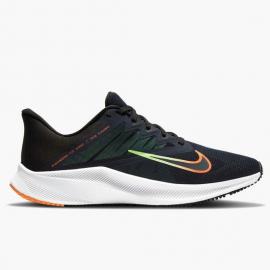 Zapatillas Nike Quest 3 marino naranja hombre