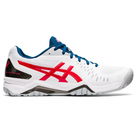 Zapatilla tenis Asics Gel Challenger 12 blanco rojo hombre
