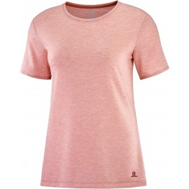 Camiseta trail running Salomon Esential Ss naranja mujer