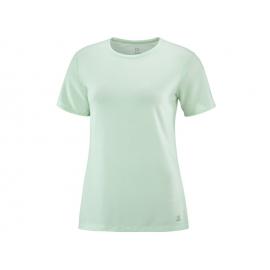 Camiseta trail running Salomon Essential Ss verde mujer