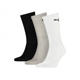 Calcetines Puma Sport Crew Lightweight blanco/gris/negro