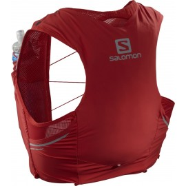 Mochila trail running Salomon Sense Pro 5 Set rojo