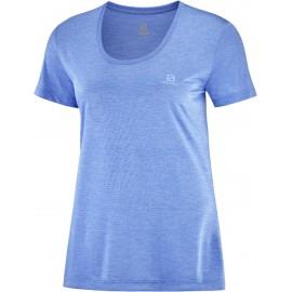 Camiseta trail running Salomon Agile Ss Tee azul mujer
