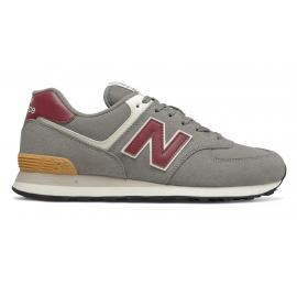 Zapatillas New Balance ML574ME2 gris burdeos hombre