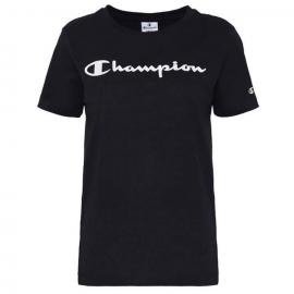 Camiseta cuello redondo Champion 112602 negro mujer