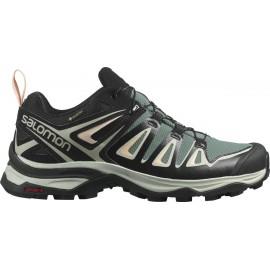 Zapatillas montaña Salomon X Ultra 3 GTX verde mujer